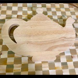 Mackenzie-Childs RARE Teapot Cutting board